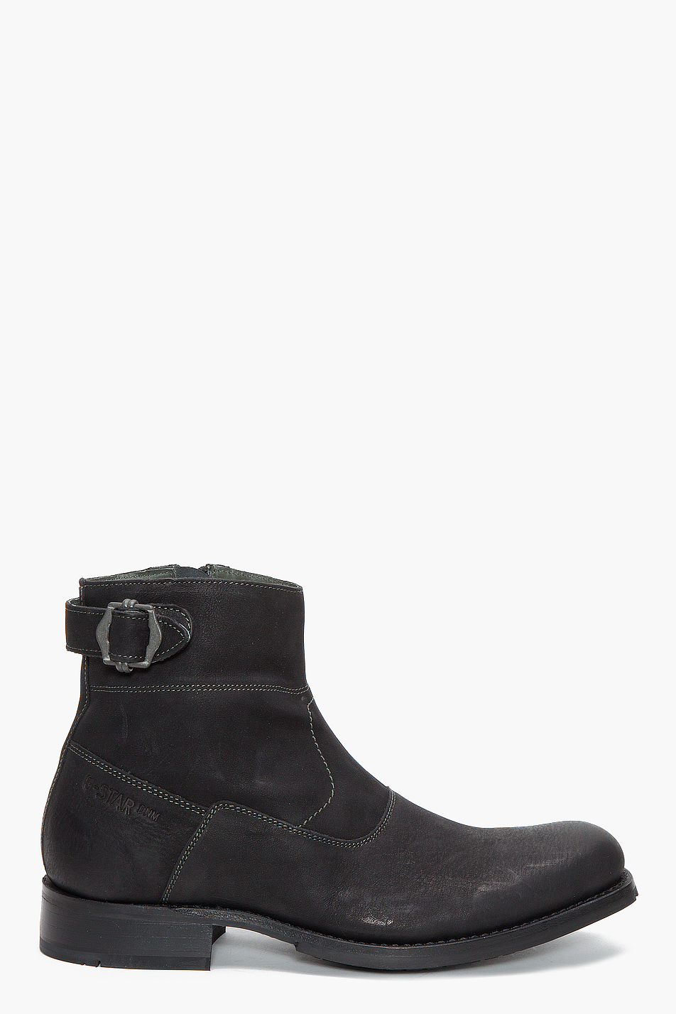 g star raw m i mission ii nabuk boots in black for men lyst. Black Bedroom Furniture Sets. Home Design Ideas