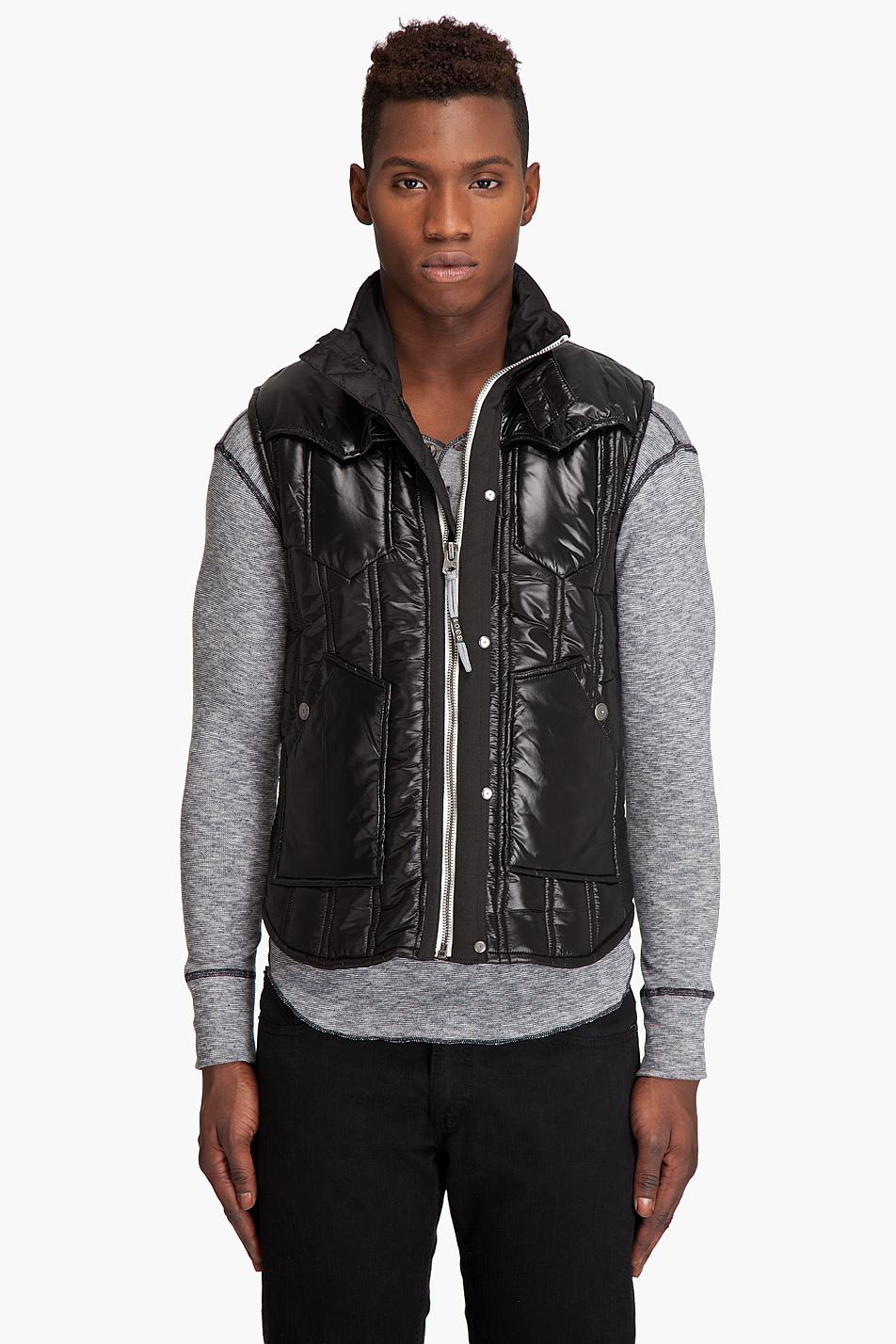 lyst g star raw new colorado quilted vest in black for men. Black Bedroom Furniture Sets. Home Design Ideas