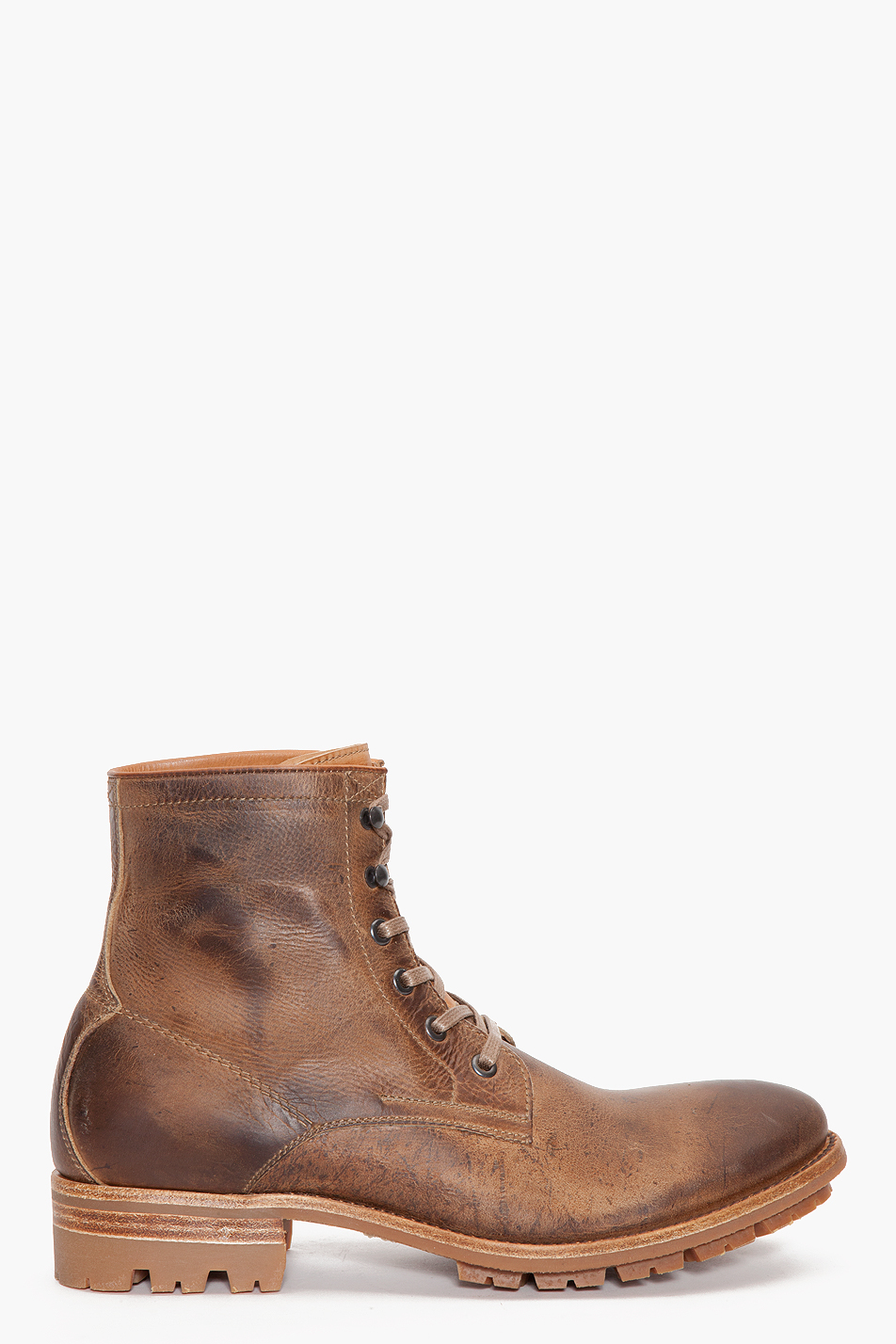 ndc hans kudu waxy boots in brown for lyst