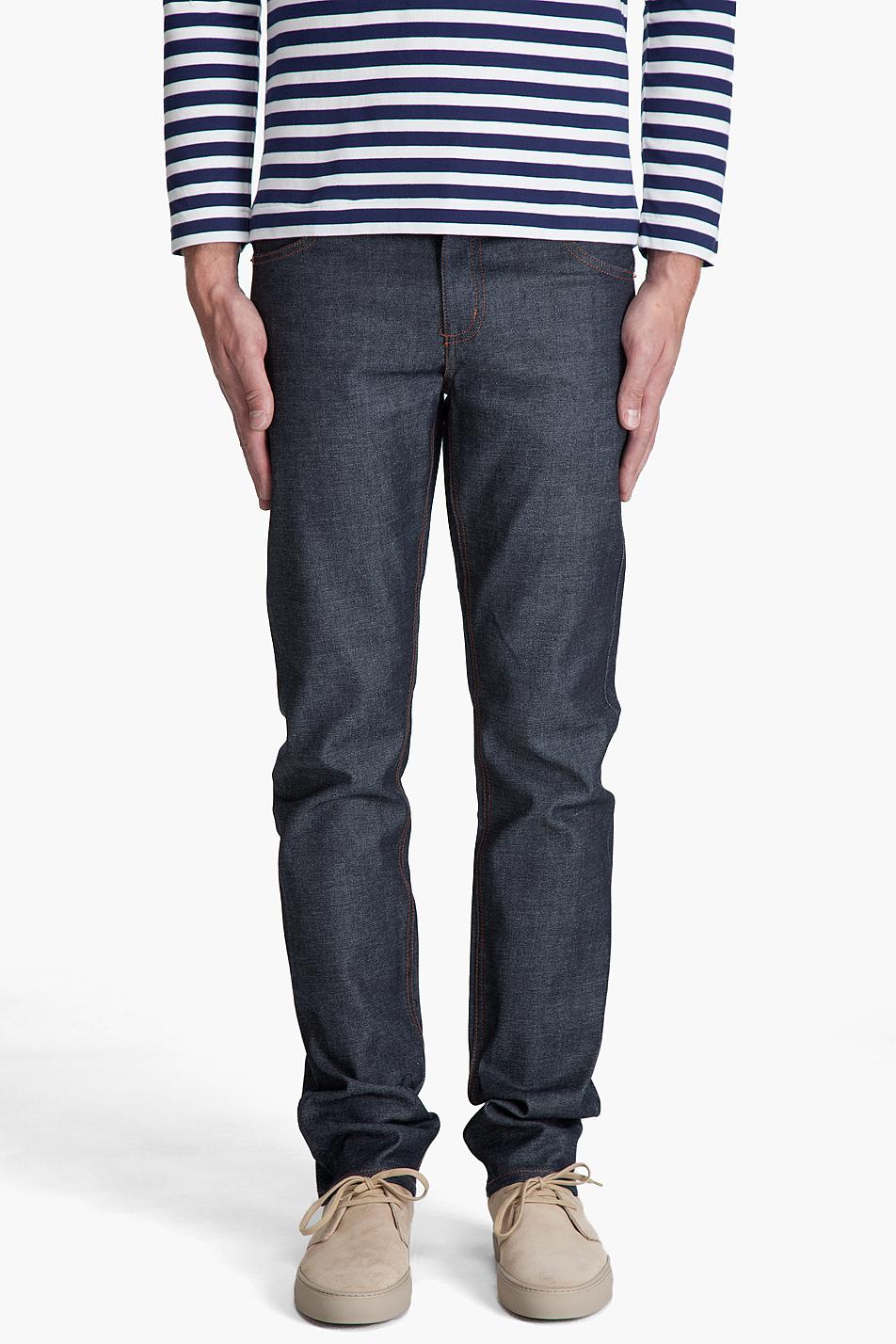 cheap monday premium tight jeans in blue for men indigo. Black Bedroom Furniture Sets. Home Design Ideas