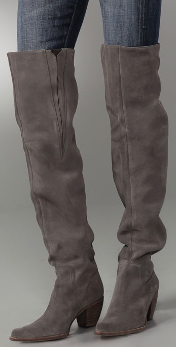 Lyst Elizabeth And James Western Thigh High Suede Boots