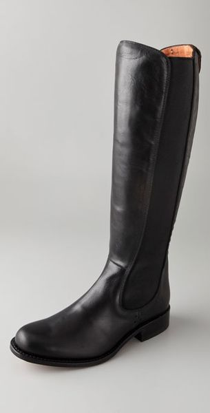 Frye Chelsea Riding Boots in Black