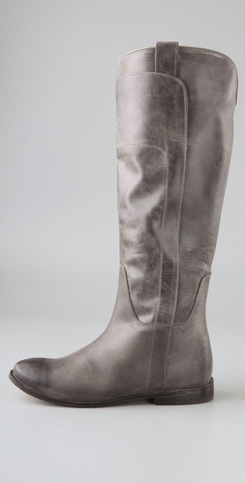 53aed074bfb Frye Gray Paige Tall Riding Boots