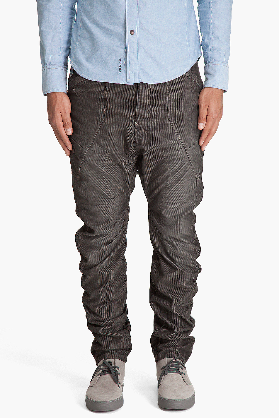 g star raw rail loose tapered jeans in black for men lyst. Black Bedroom Furniture Sets. Home Design Ideas