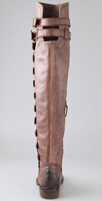 2c9659c195c Lyst - Sam Edelman Pierce Over The Knee Button Boots in Brown