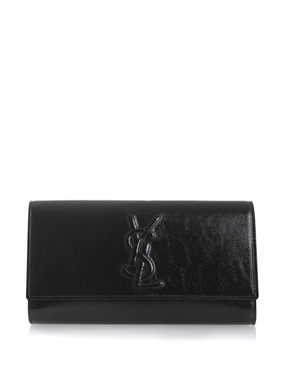 Saint Laurent Belle De Jour Clutch Bag In Black Lyst
