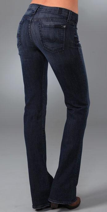 7 for all mankind Rocker Boot Cut Jeans in Blue   Lyst