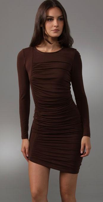 Alice   olivia Gretta Long Sleeve Dress in Brown | Lyst