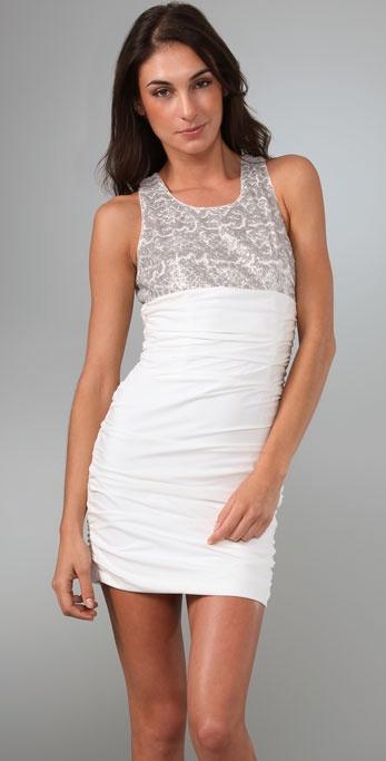 Alice Olivia Annette Sequin Dress In White Lyst