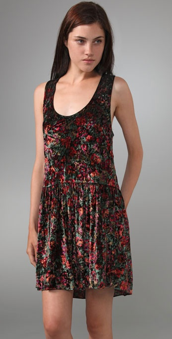 Free People Crushed Floral Dress In Black Lyst