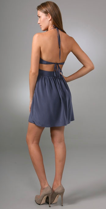Rory Beca Bailey Cutout Halter Dress In Blue Lyst