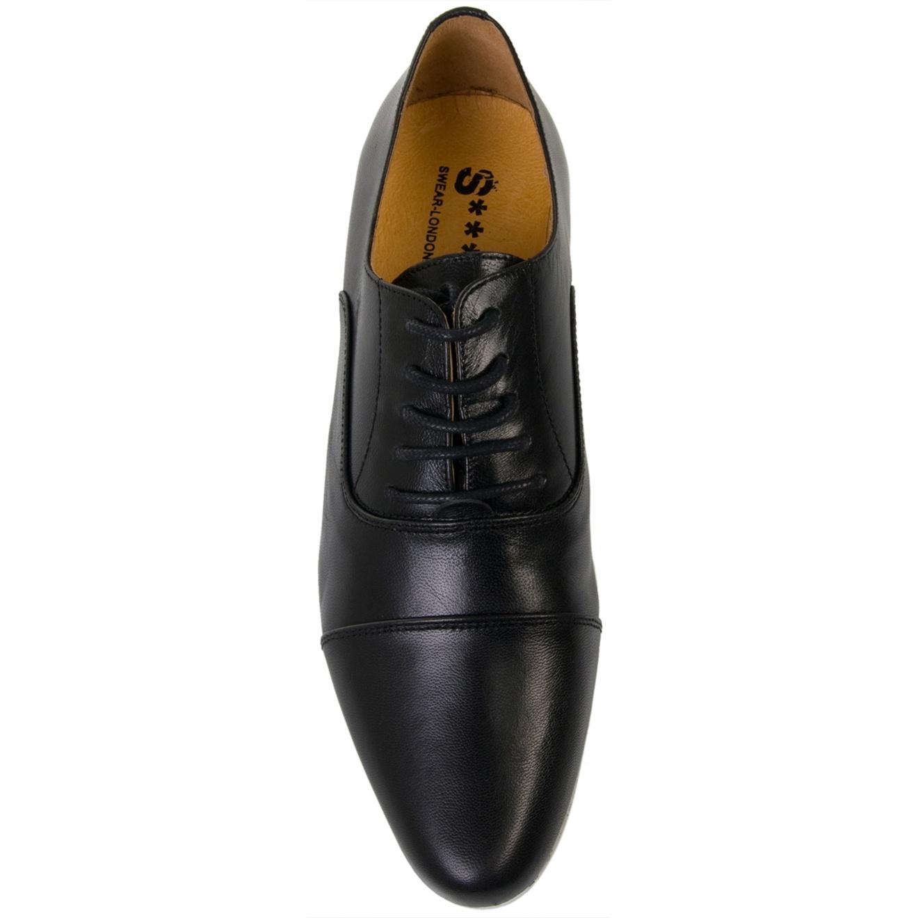 Swear Jimmy 1 Black Leather Lace-up Shoe for Men