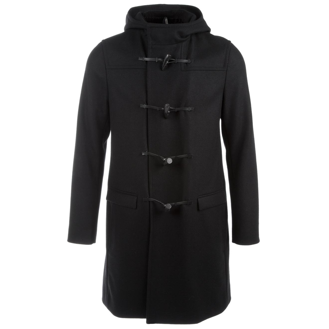 dior homme duffle coat in black for men lyst. Black Bedroom Furniture Sets. Home Design Ideas