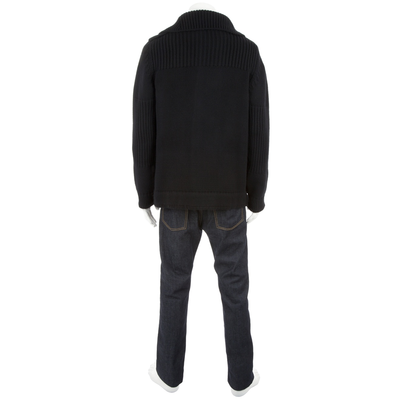 Esemplare Wool Cardigan in Black for Men