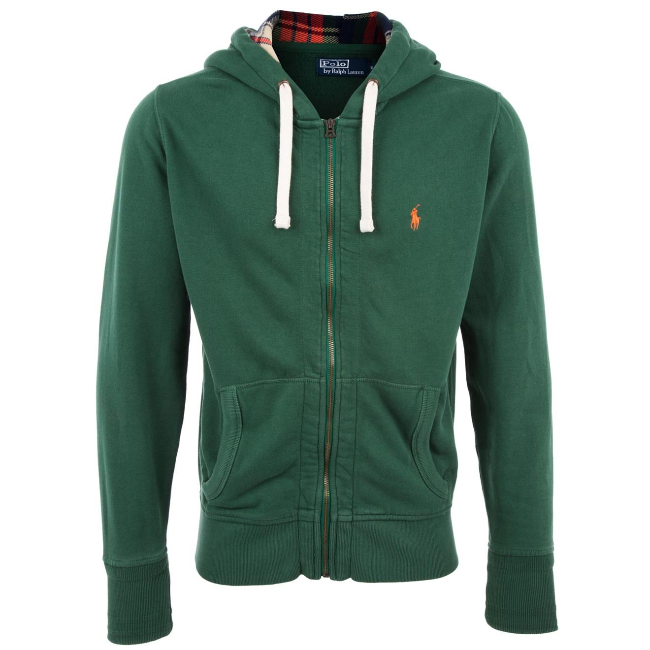 polo ralph lauren zip through hoodie in green for men lyst. Black Bedroom Furniture Sets. Home Design Ideas