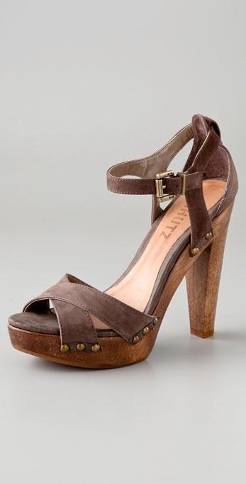 Lyst Schutz Clog Platform Sandals In Brown