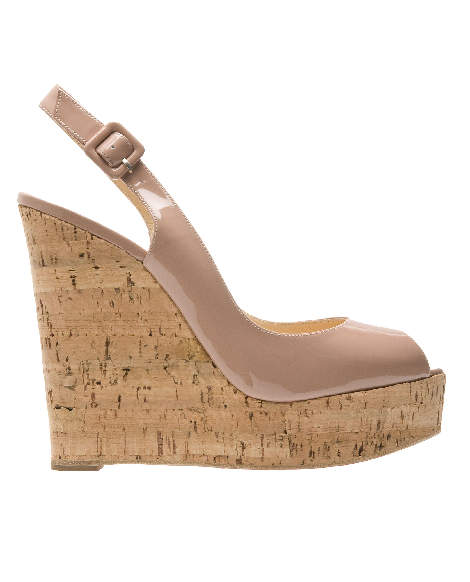 christian louboutin wedge slingback sandals | Boulder Poetry Tribe