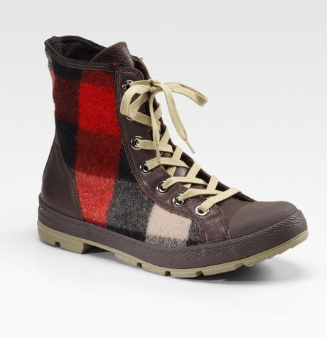 Converse Chuck Taylor Woolrich Outsider Boots in Brown for Men
