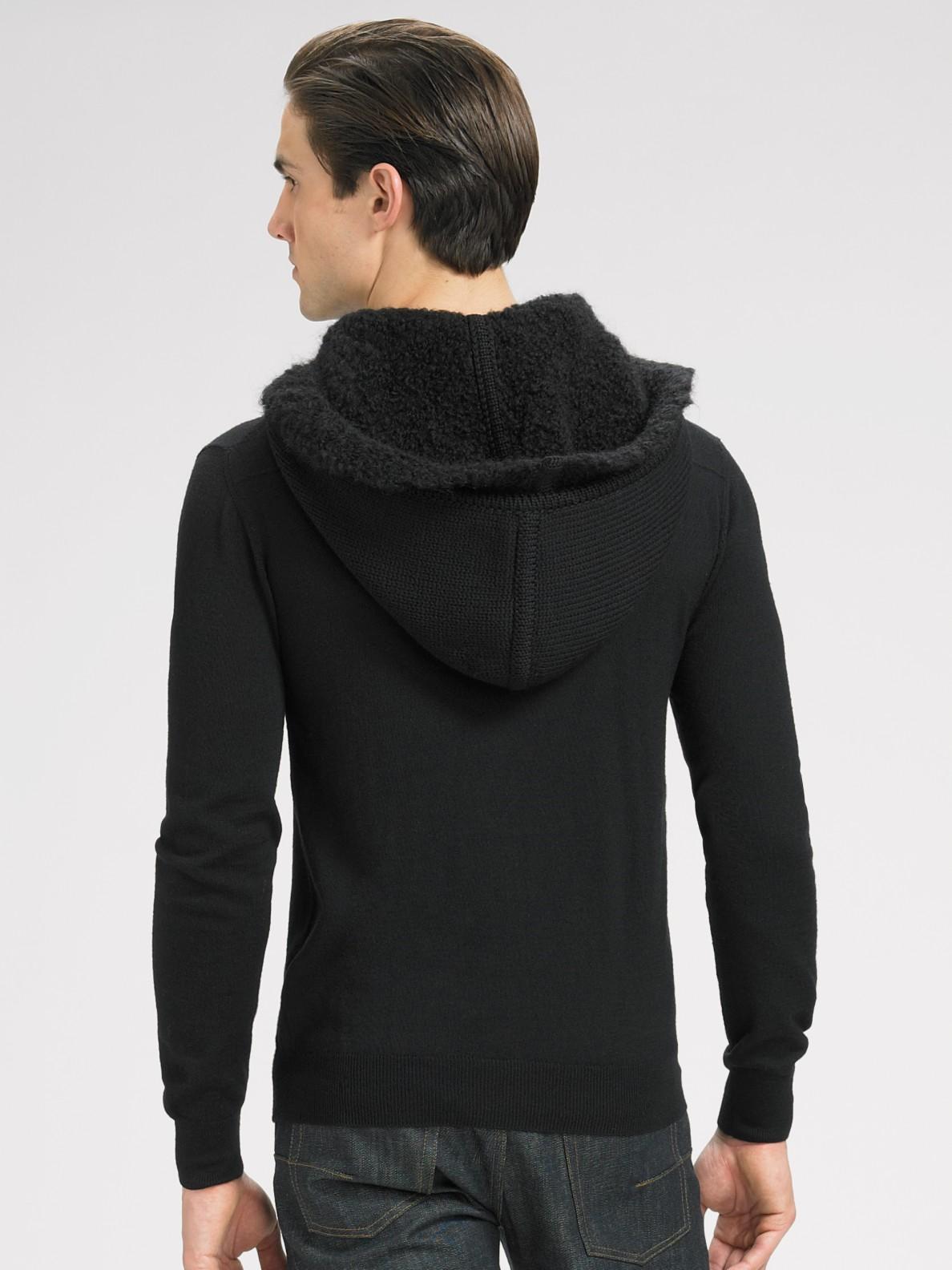 lyst dior homme knit hoodie in black for men. Black Bedroom Furniture Sets. Home Design Ideas