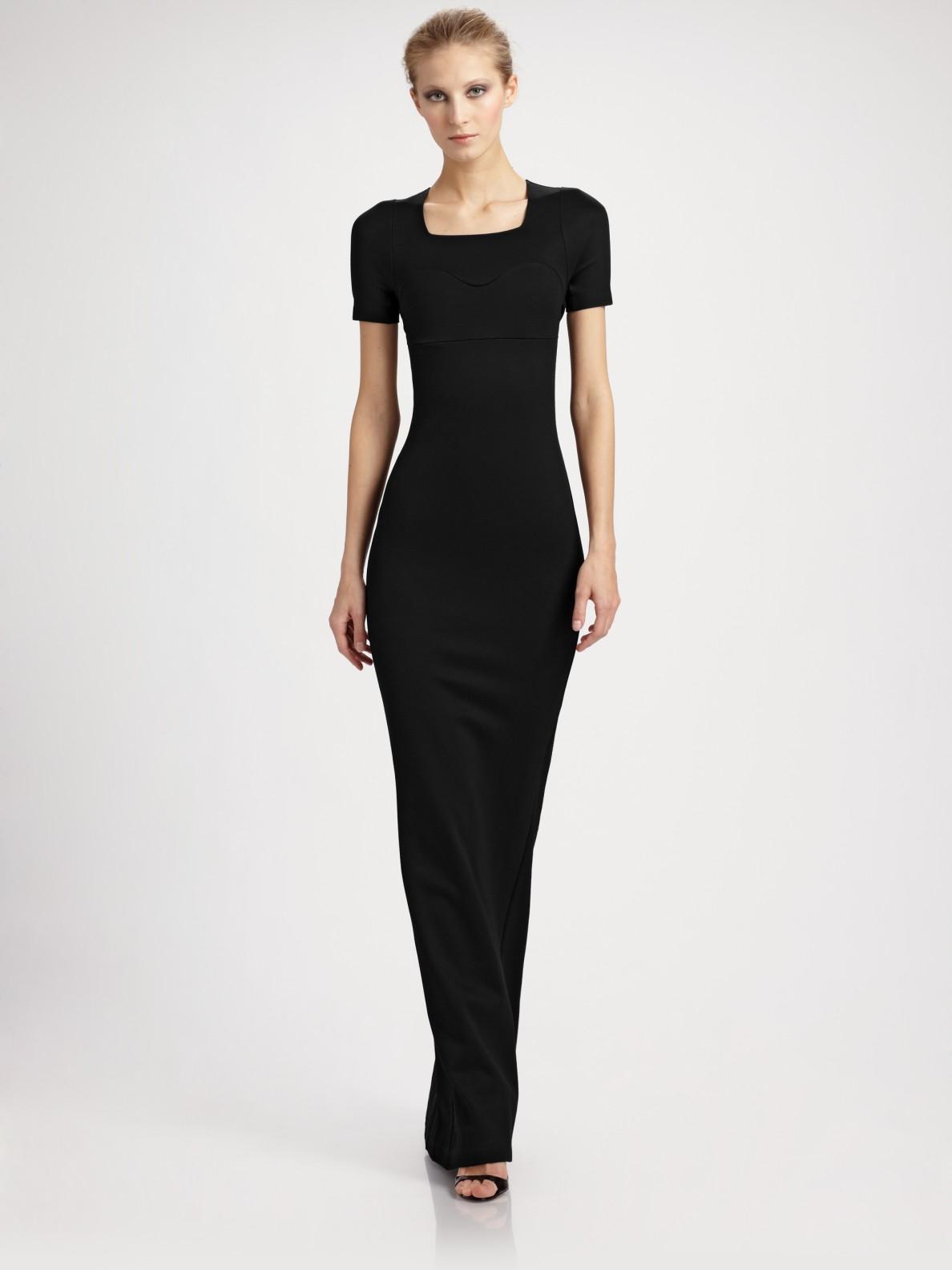 long black jersey dress