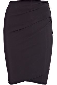 Lanvin Stretch-crepe Pencil Skirt - Lyst