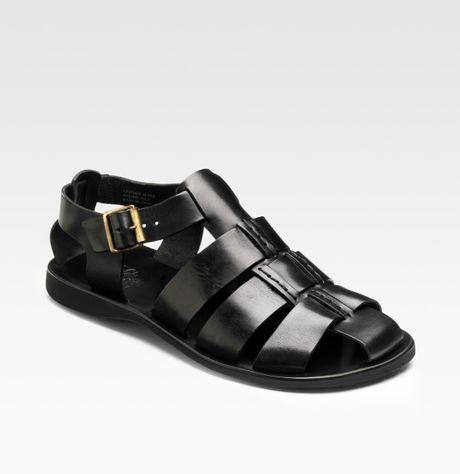 Saks Fifth Avenue Fisherman Sandals In Black For Men Lyst