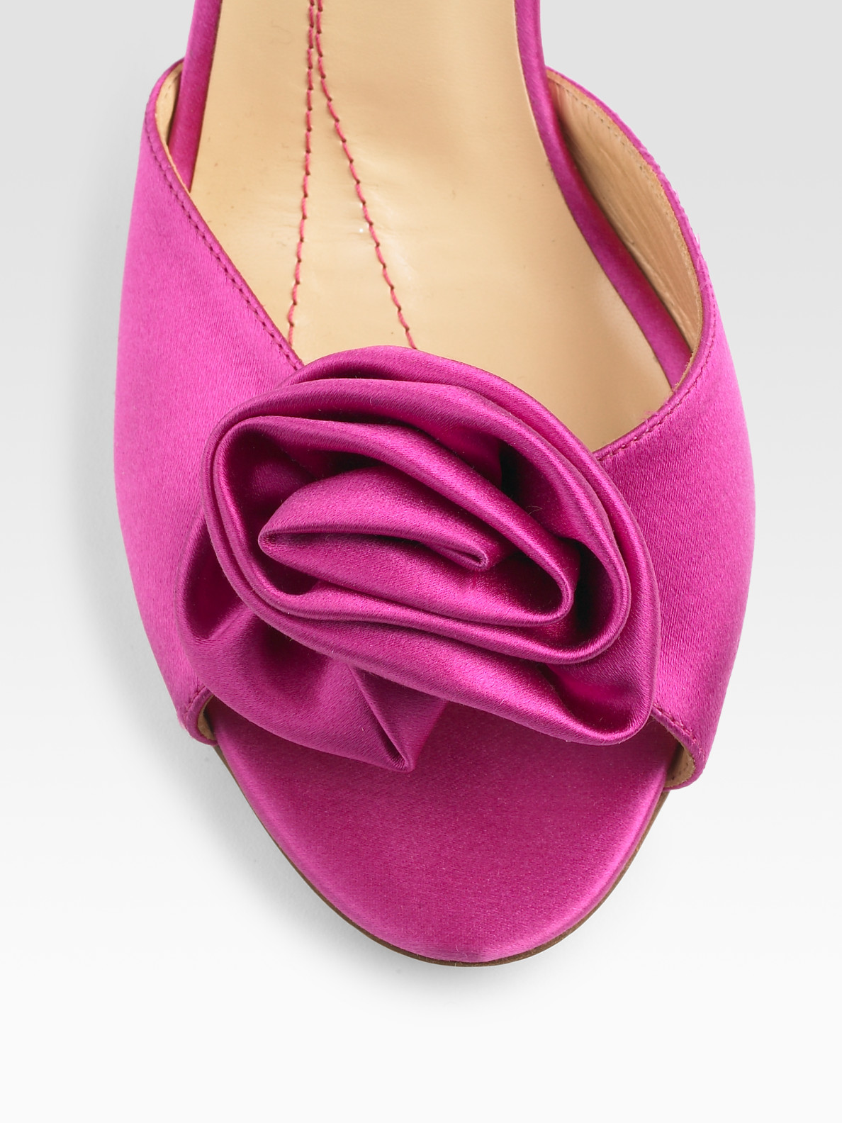 Lyst Kate Spade Satin Sandals In Pink