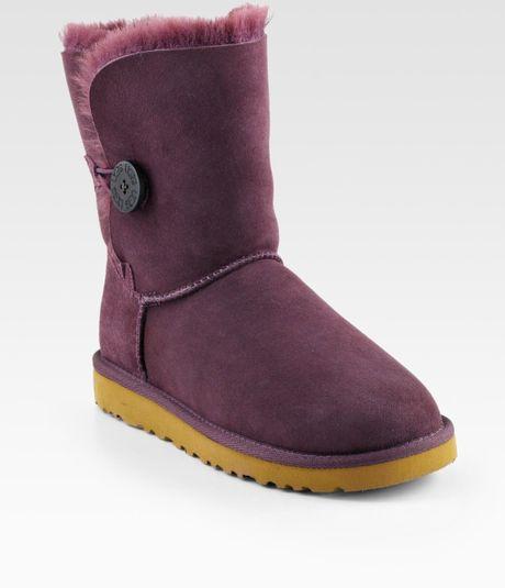 ugg australia bailey button sheepskin short boots