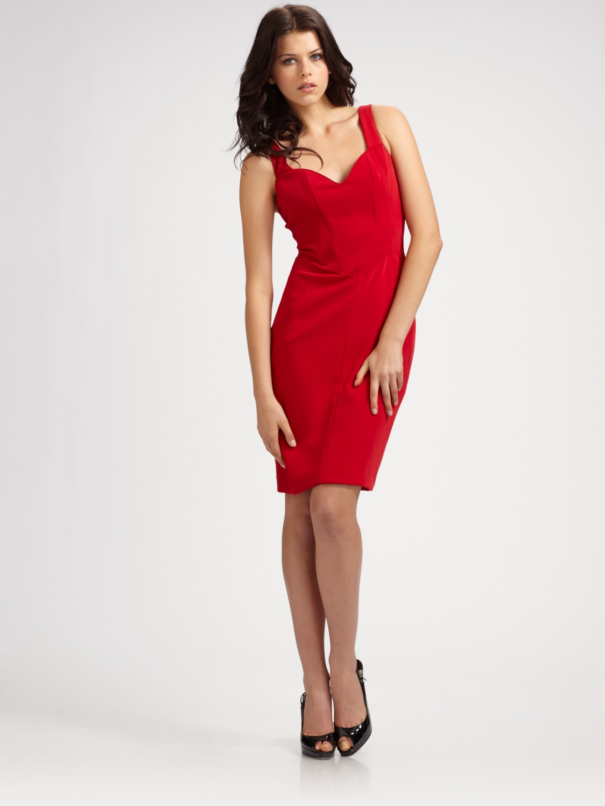 Black halo Laura Sheath Dress in Red | Lyst