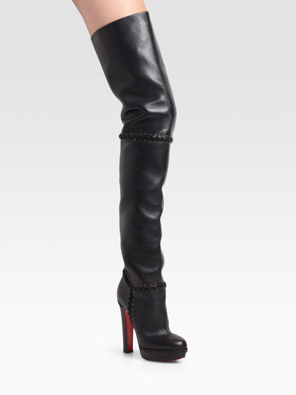 42cdaf3acae Christian Louboutin Black Tres Contente Thigh-high Boots