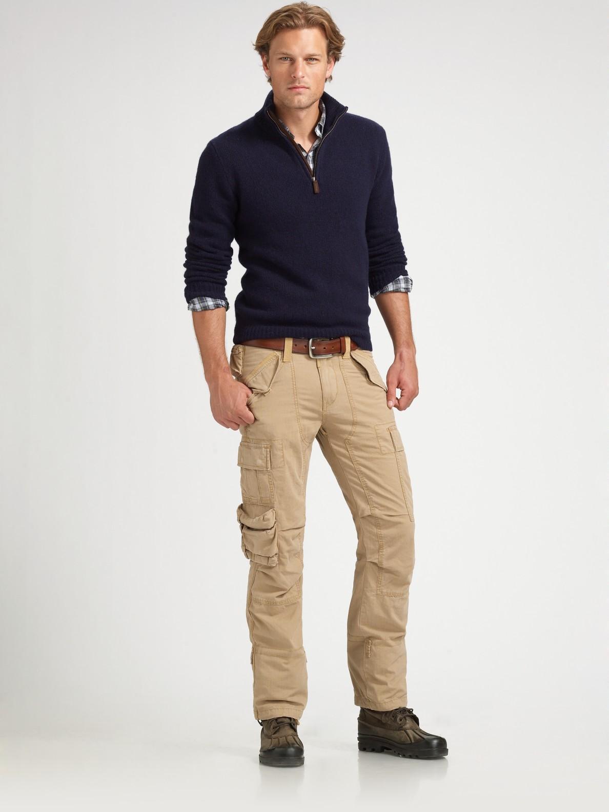 Polo ralph lauren Half-zip Merino Sweater in Blue for Men | Lyst