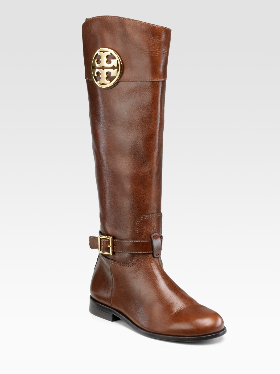 58bb63bca47d ... switzerland lyst tory burch patterson riding boots in brown acd50 d2b93