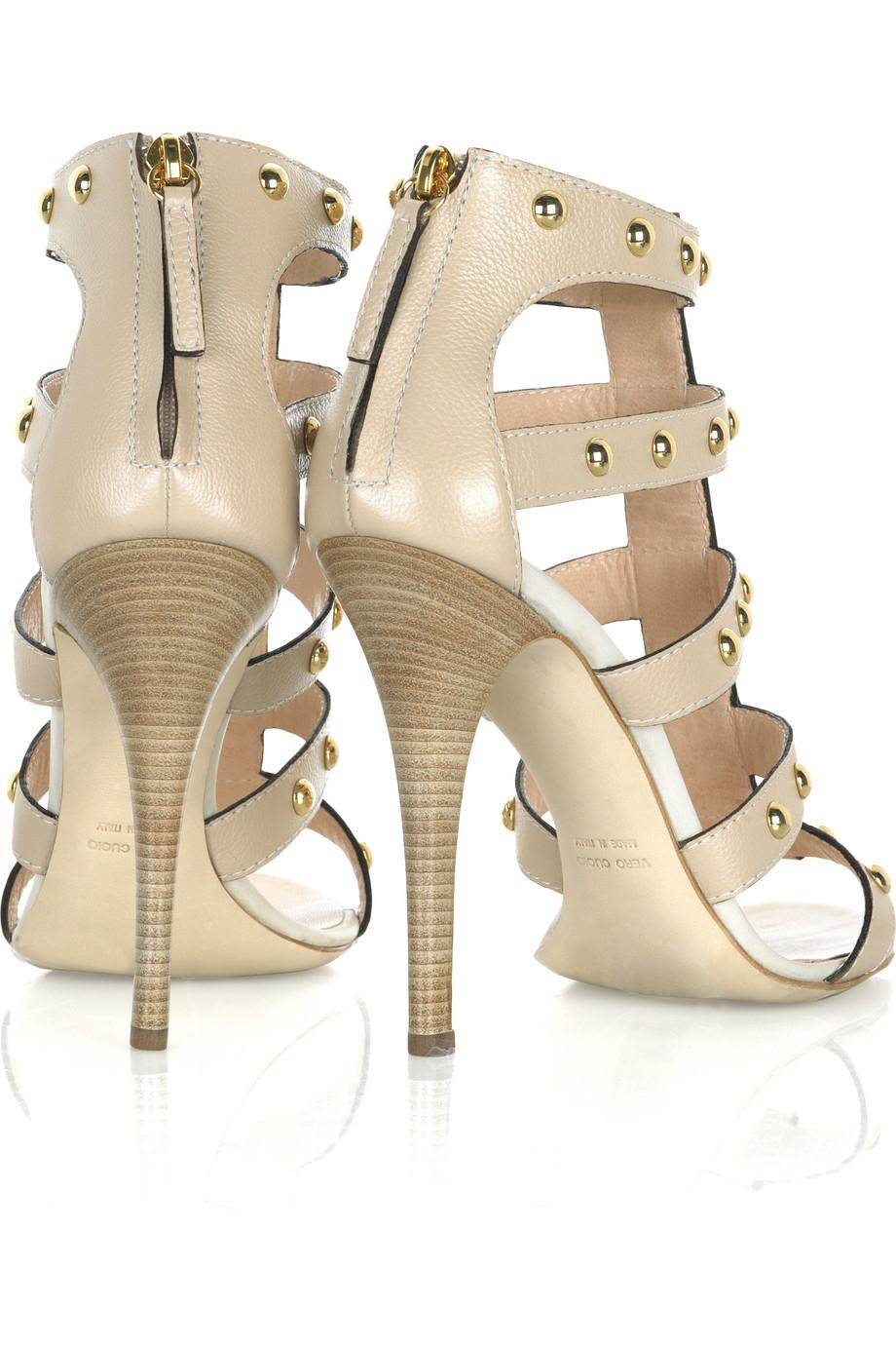 Lyst Giuseppe Zanotti Studded Leather Gladiator Sandals