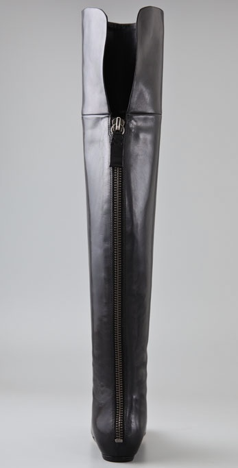 8055446bf35 Lyst - Vera Wang Lavender Larissa Over The Knee Boots in Black