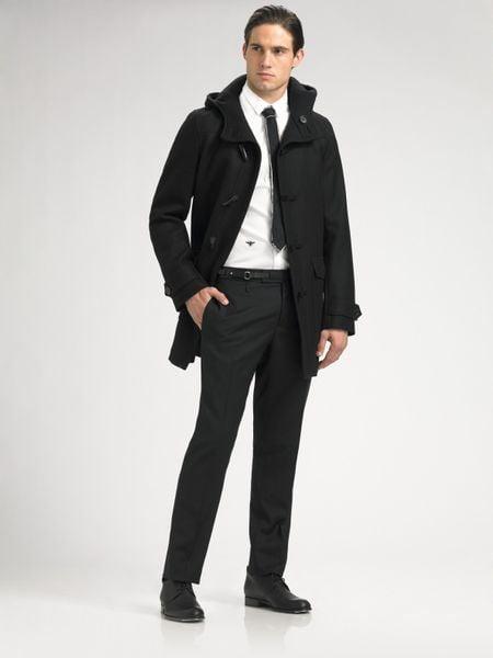 dior homme wool duffel coat in black for men lyst. Black Bedroom Furniture Sets. Home Design Ideas