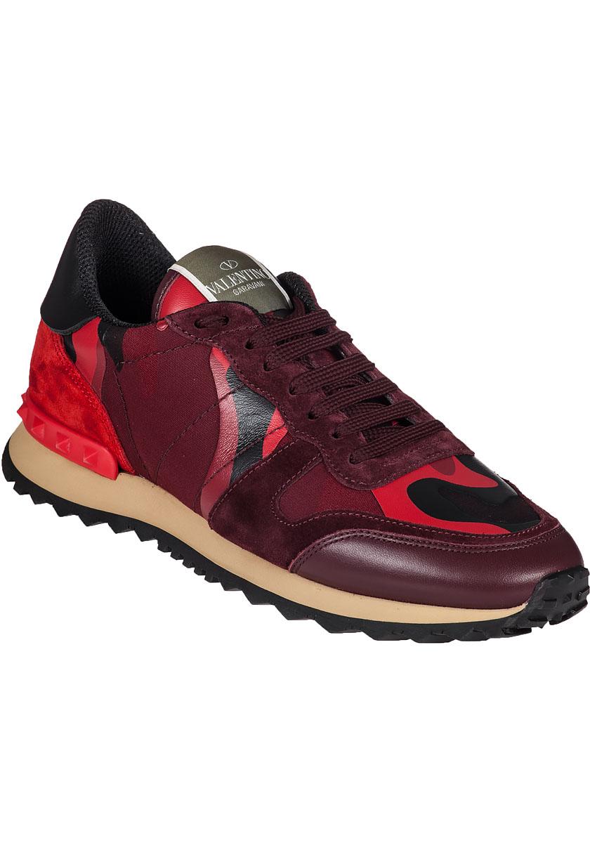 Valentino Rock Runner Sneaker Red Camo