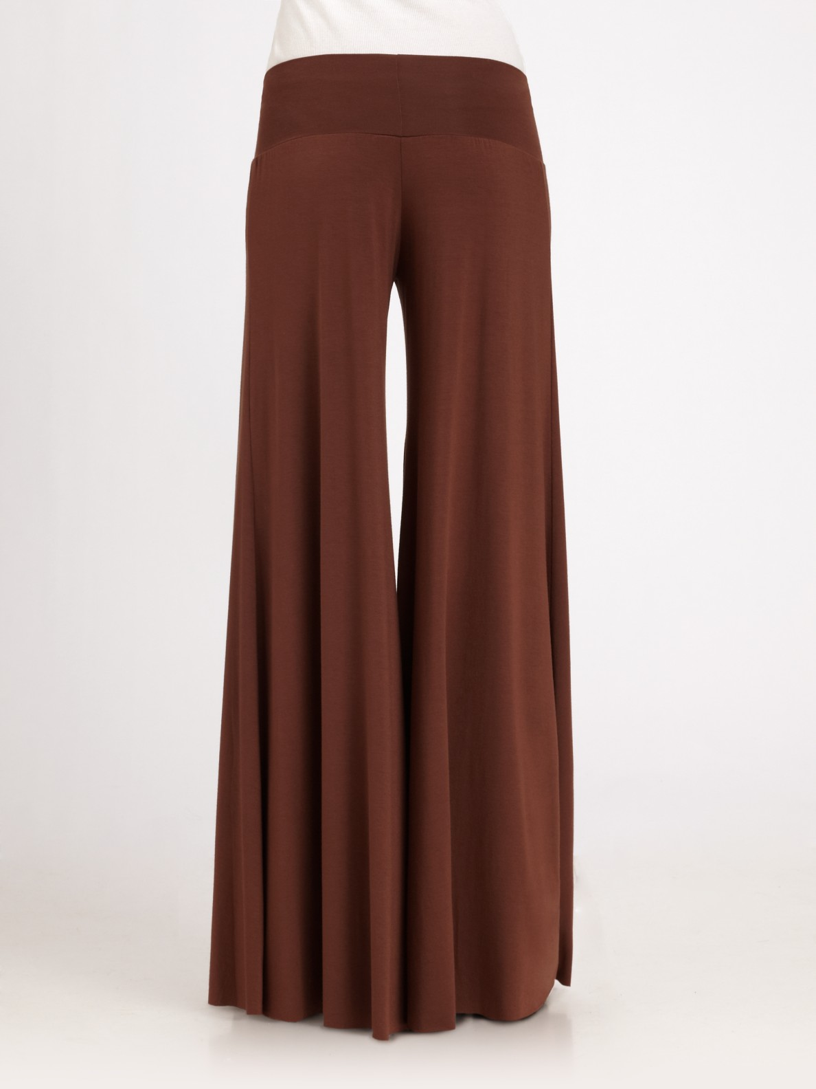 Rachel pally Wide-leg Stretch Pants in Brown | Lyst