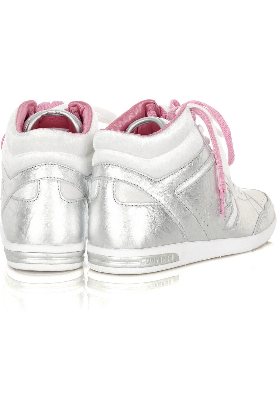Converse Weapon Hi-top Sneakers in Silver (Metallic)