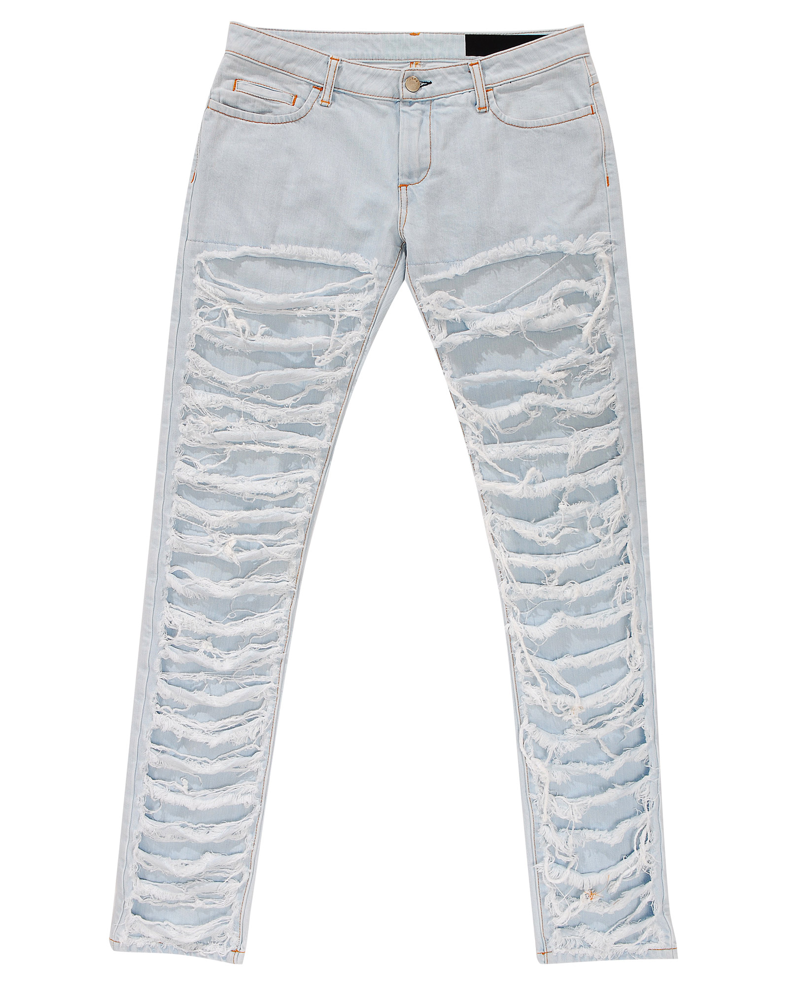 Silver Ripped Jeans - Xtellar Jeans