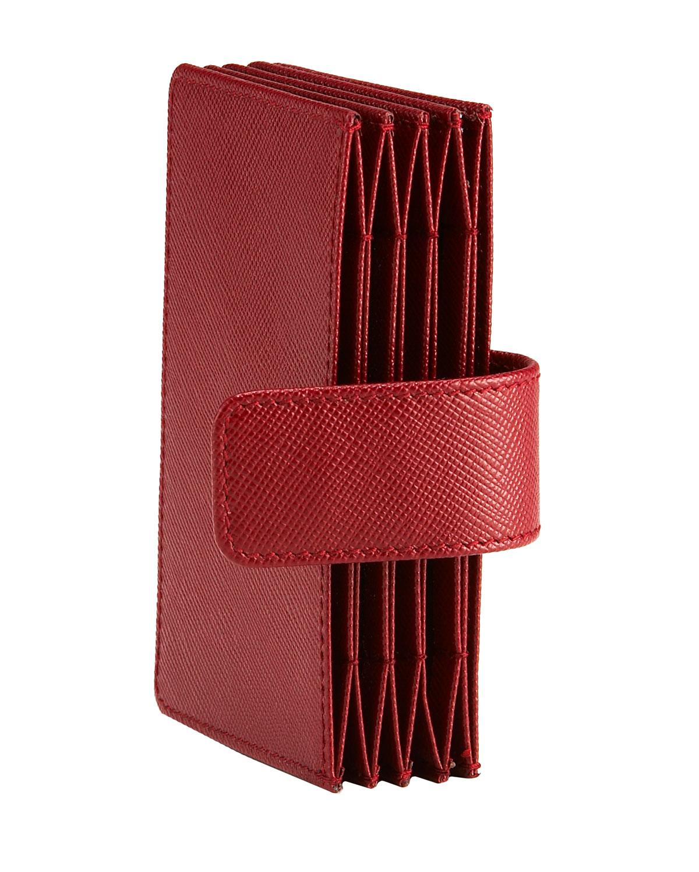 Lyst - Prada Saffiano Leather Accordion Card Case in Red
