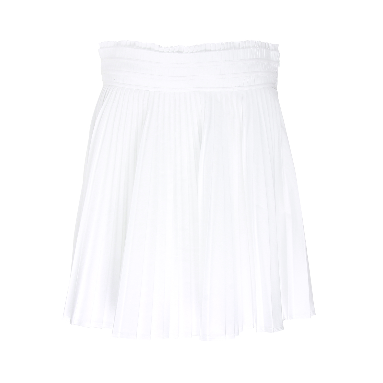 givenchy cotton pleated skirt in white black lyst