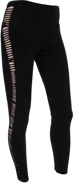 Alexander McQueen Knit Cut Out Leggings - Lyst