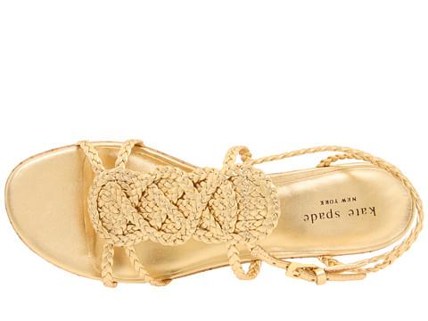 Kate Spade Beachy Metallic Leather Wedge Sandals In