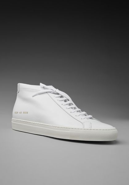 Common Projects Original Achilles Mid in White for Men | Lyst