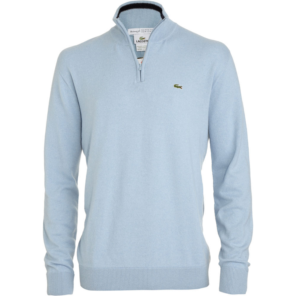 lacoste zip mock pullover in blue for men lyst. Black Bedroom Furniture Sets. Home Design Ideas
