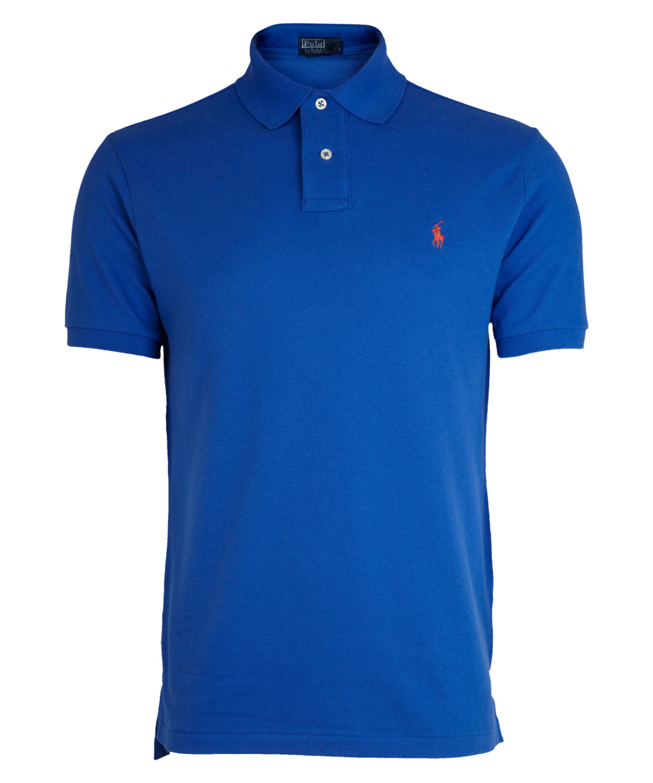 polo ralph lauren cobalt blue polo shirt in blue for men