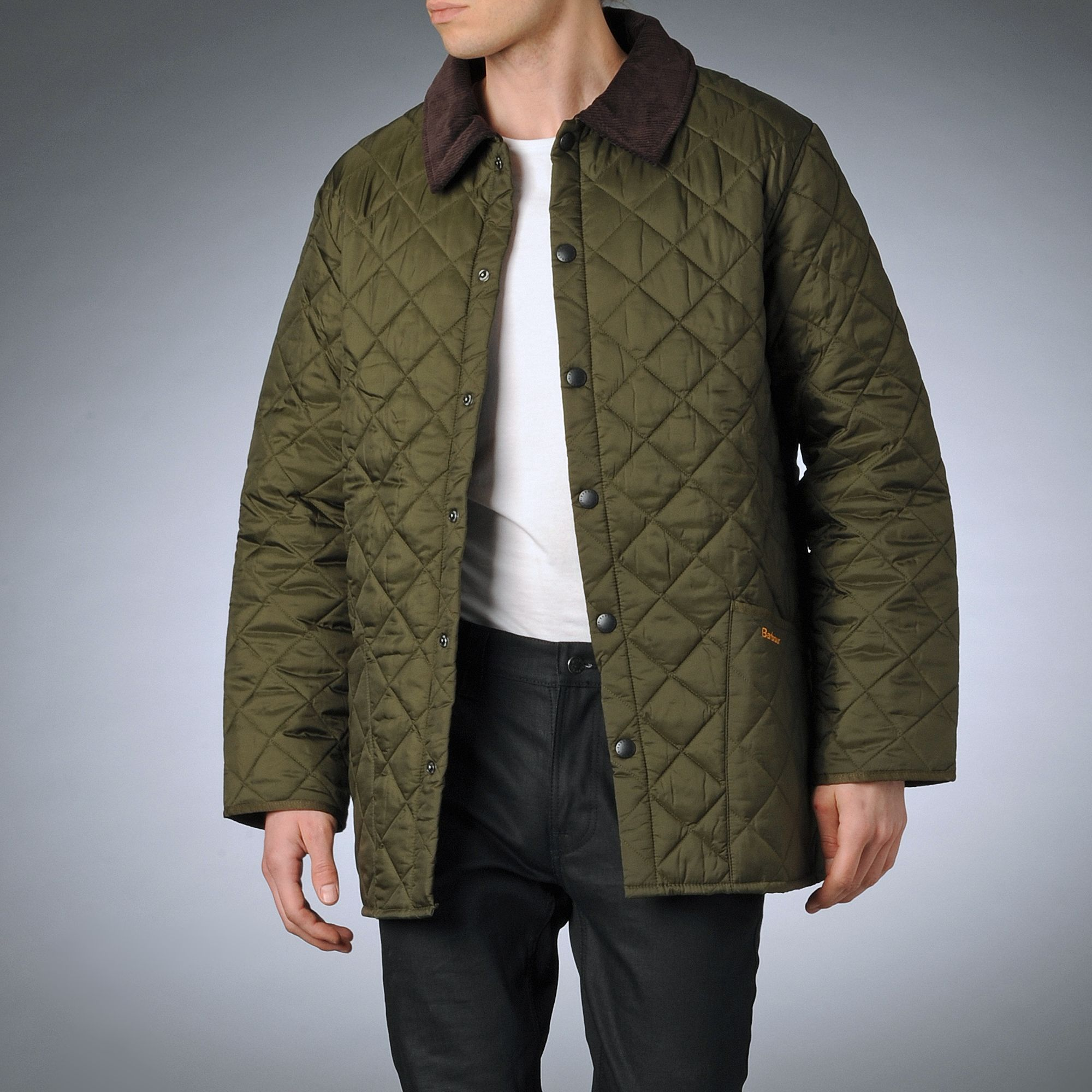 Barbour Quilted Jacket In Green For Men Olive Lyst