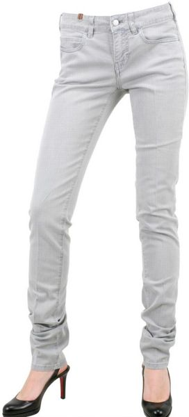 Notify Extra Skinny Dirty Stretch Denim Jeans in Blue
