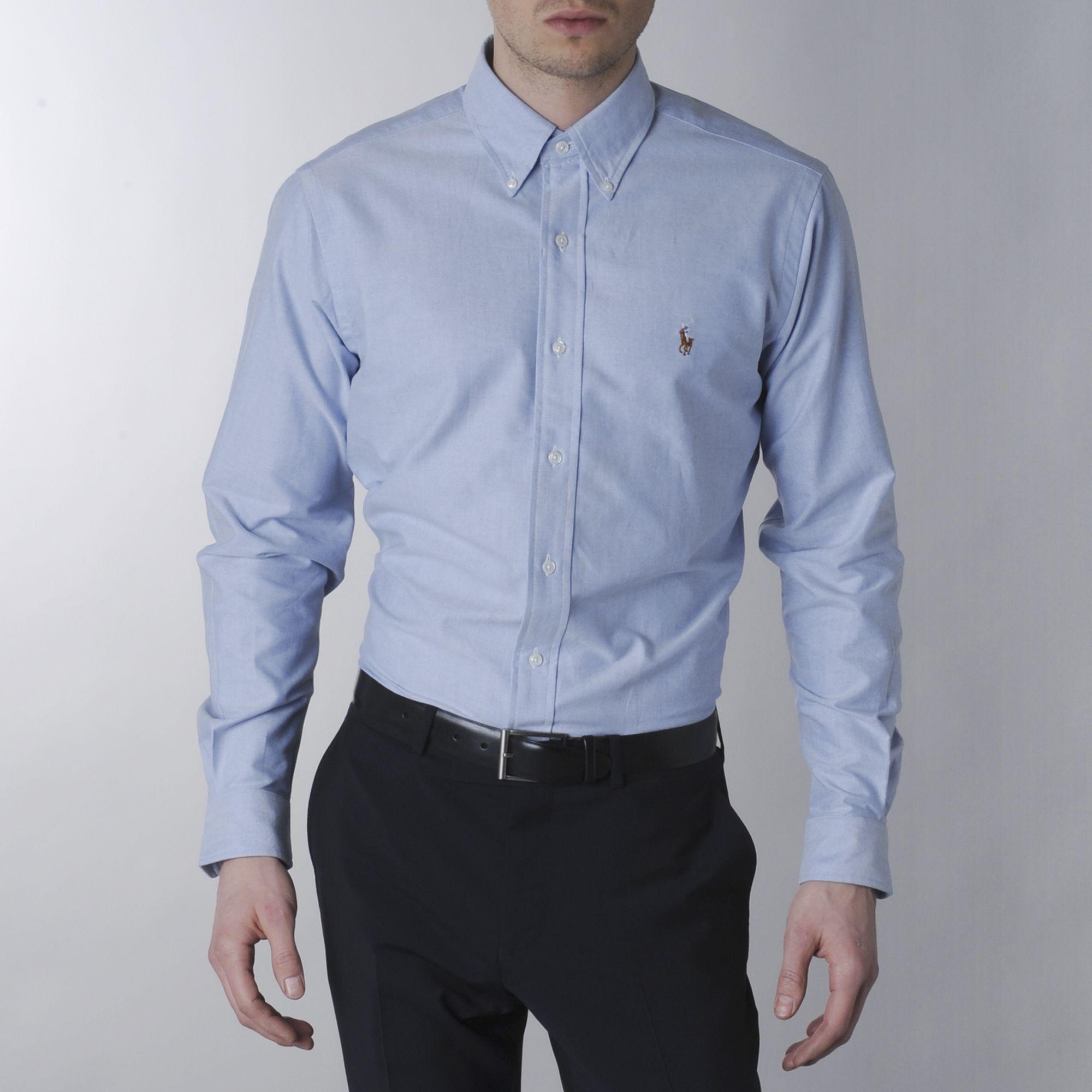 c343ad82a96b Ralph Lauren Classic Oxford Dress Shirt in Blue for Men - Lyst