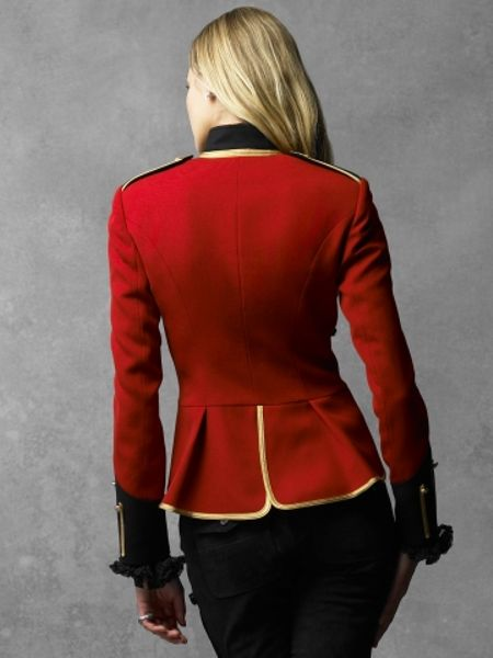 Ralph Lauren Collection Military Jacket In Red Lyst